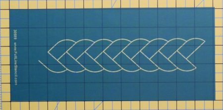 Braid border stencil