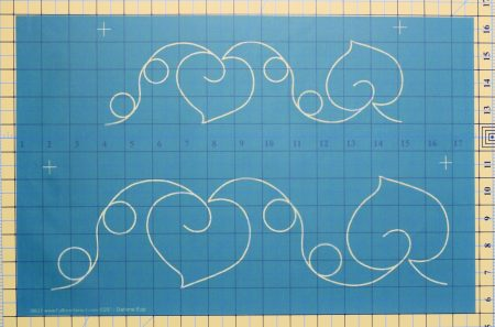 hearts and loops stencil