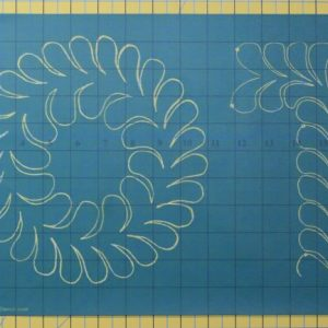 feather wreath and border stencil