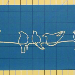 Birds on a wire stencil