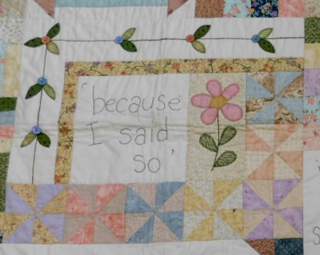Because I said so quilt block