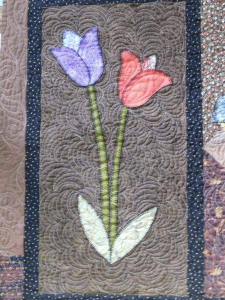 A Pieceful Garden quilt block