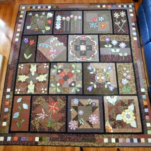 Pieceful garden quilt